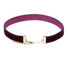 Simple Purple Velvet Choker