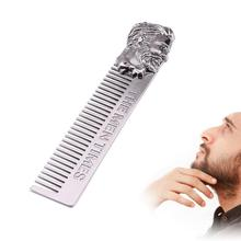 Beard Shaping Styling 1pc Silver Template Durable unique material Metal Beard Comb for Men Hair Beard Trimming Tools Supplies
