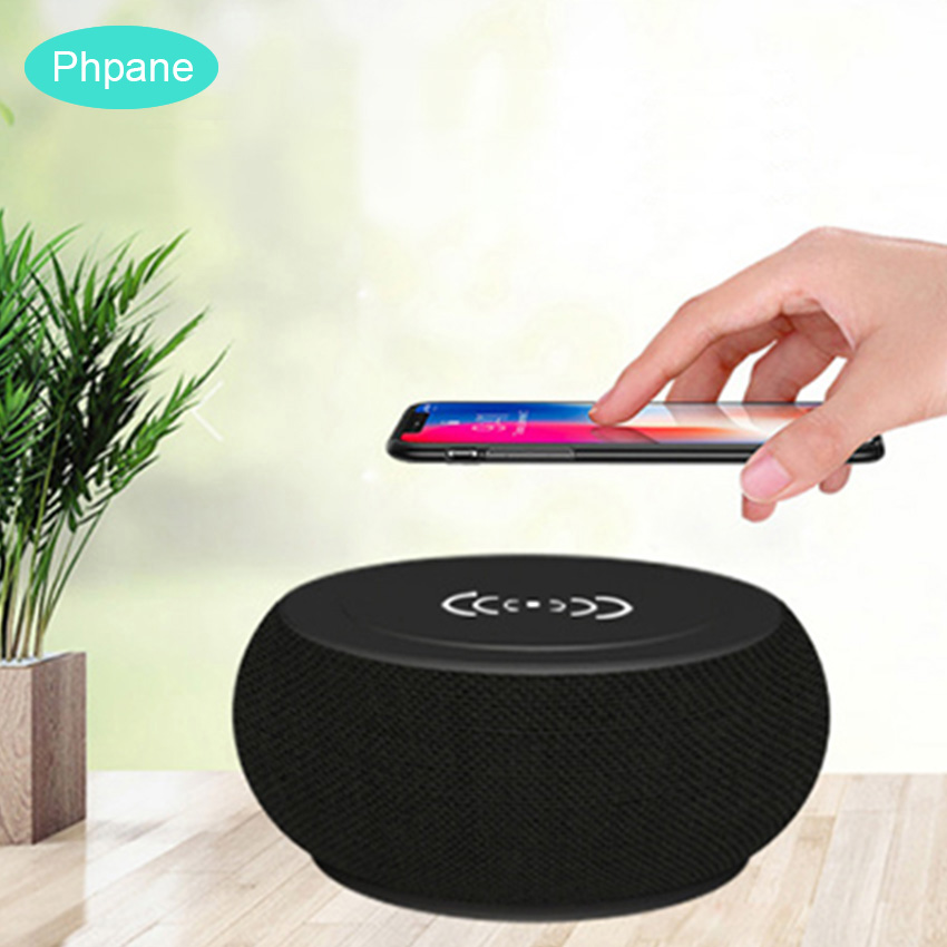 Portable Wireless charging bluetooth speaker QI Wireless Phone charger Loudspeaker Sound System 10W Charger FOR HUAWEI P30 Pro