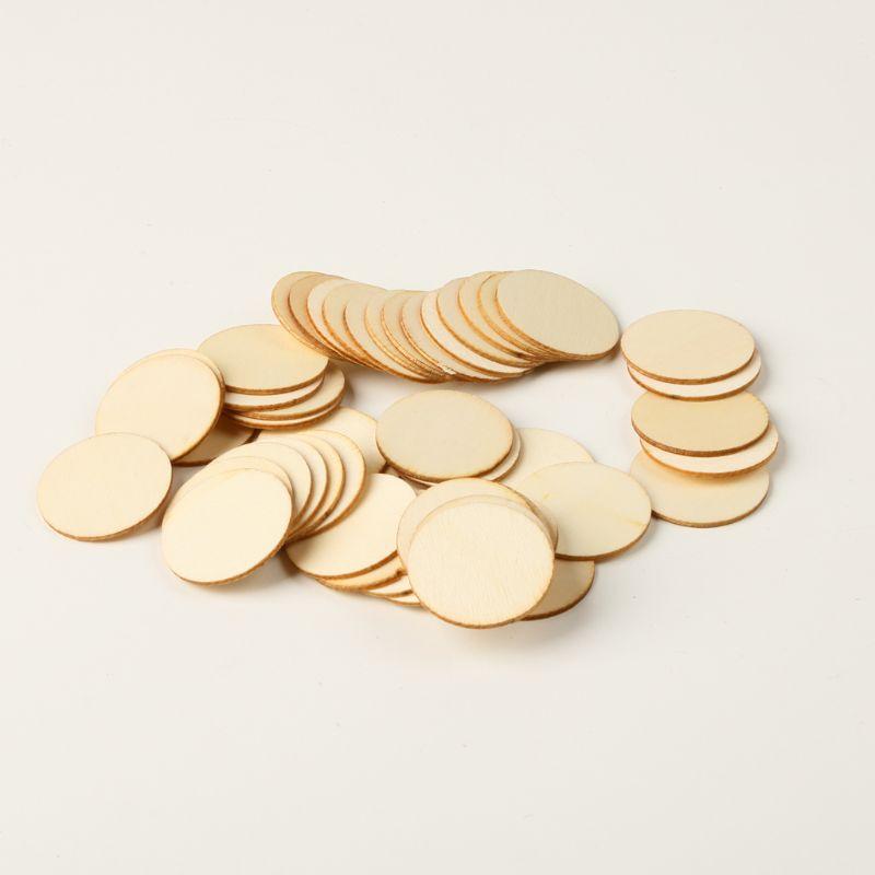 50pcs 4Size DIY Rustic Natural Round Wood Pine Tree Slice Disc Wedding Decor