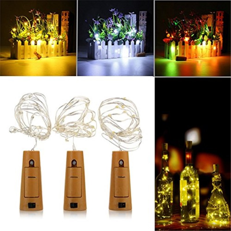 2m 20 LEDs String Lights With Bottle Stopper For Glass Craft Bottle Fairy Valentines Wedding Decoration Lamp Party