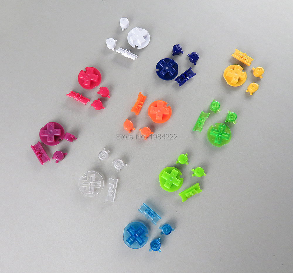 OCGAME 2sets/lot 10 colors ON OFF button Power D pads A B keypad buttons for Gameboy color GBC(China)