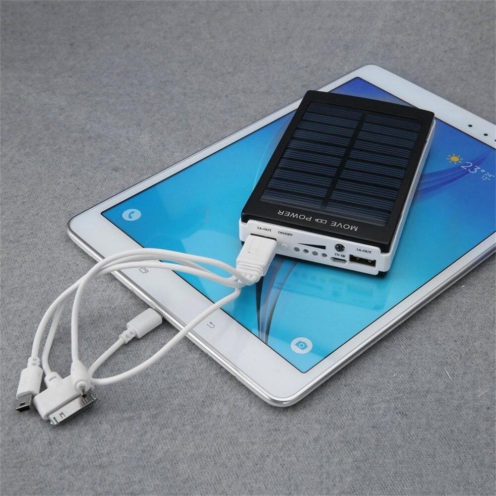 Tragbare Solar Power Batterie 50000 mah Bateria Externe Dual USB LED Externe Handy Batterie Ladegerät Backup Power