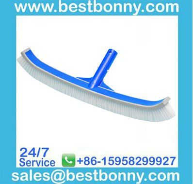 Swimming pool equipment cleaning brush with Rubber Bumper
