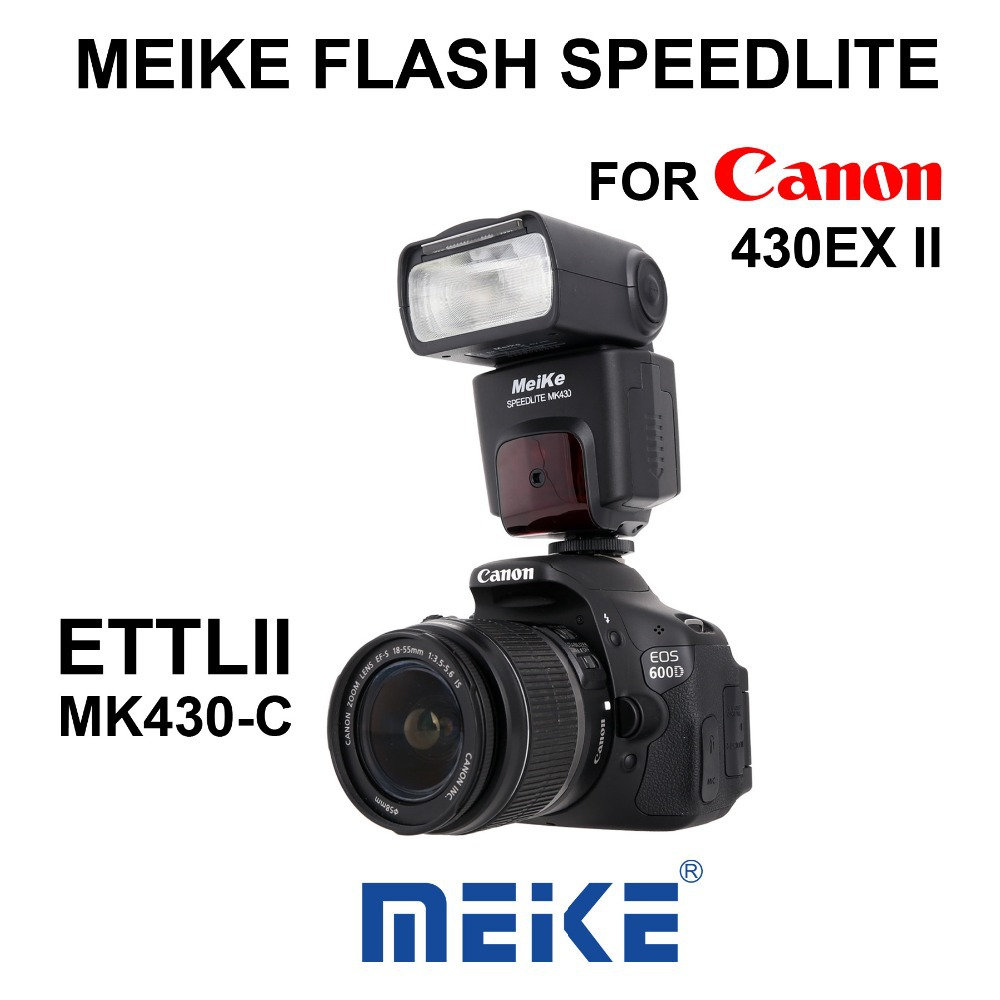 MEKE Meike MK 430 TTL LCD Flash Speedlite for Canon 60D 70D 450D 550D 600D 1100D T5i T4i T3i T2i genuine meike mk950 flash speedlite speedlight w 2 0 lcd display for canon dslr 4xaa