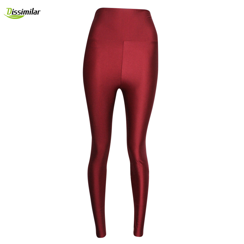 NEW!!!high-waisted Fluorescence Leggings Solid Color Disco Pants S/M/L/XL