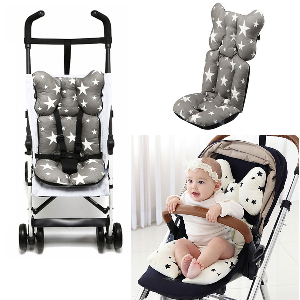 Cartoon Patterns Warm Stroller Cushion Seat Cover Diaper Pad Cotton Baby Cart Mat Kids Sleeping Mattress Pram Accessories Durable Service Strollers Accessories