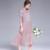 Conjuntos moda feminina Vestidos de Verão Material de Algodão Padrão Vestido da Senhora Estilo Mid-Calf 121 cm de Comprimento Feminino pano 0-6227