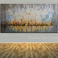 Modern Abstract Large Size Hand Painted Abstract Oil Painting On Canvas Abstract Wall Picture Living Room