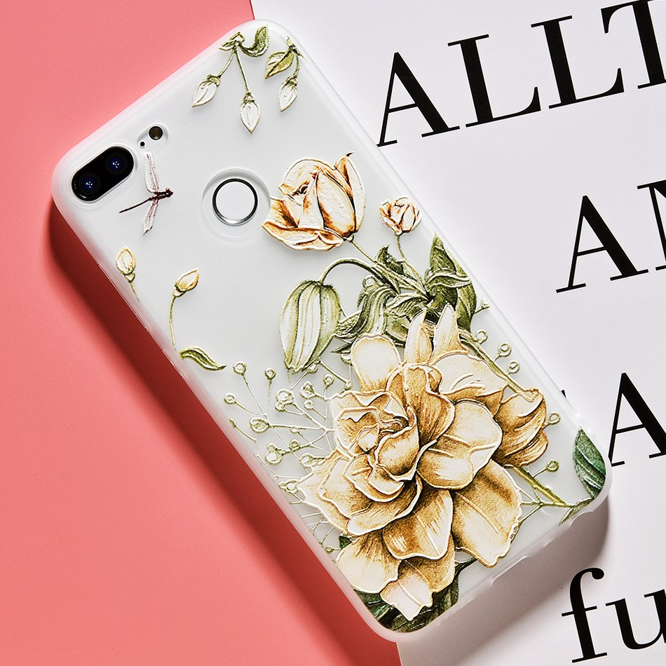 3D Relief Flower TPU Case For On Honor 9 9 lite Soft Silicone Case Back Cover Case for Huawei P20 P10 lite NOVA 2 Case           (13)