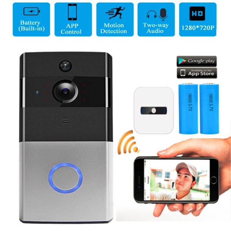 IP Video Intercom Video Doorbell Wireless WiFi Door Bell Ring Monitor Alarm Door Phone 720p PIR IP Security Camera two-way Audio цена 2017