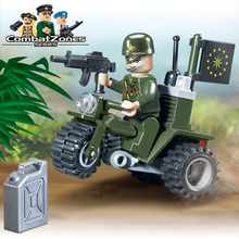 Enlighten Military Educational Building Blocks Toys For Children Kids Gifts Motor Army Compatible With Legoe