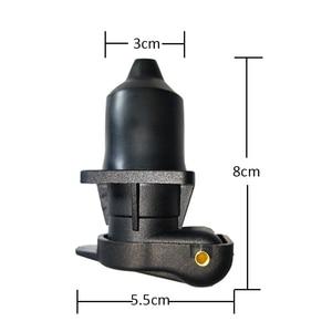 Image 5 - 1 pc AOHEWEI 3 broches prise de remorque en plastique Standard européen pièces dauto 12 V 3 broches connecteurs de remorque avec 4 points de fixation