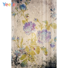 Yeele Wallpaper Photocall Flower Grunge Retro Decor Photography Backdrops Personalized Photographic Backgrounds For Photo Studio
