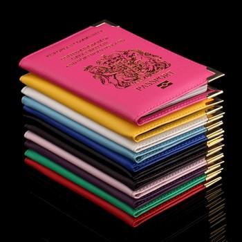 Brytyjski paszport posiadacz okładka PU Leather ID Card Fashion Travel s paszport obejmuje paszport dla Anglii tanie i dobre opinie Akcesoria podróżne 14 2 cm Stałe Skóra PU 0 035 kg Przyjaciele na zawsze Pokrowce na paszport 9 8 cm Masz P4001-P4015