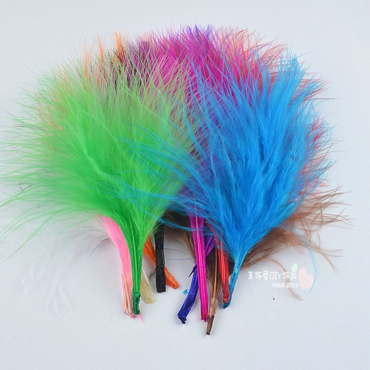 Cheap For Sale 200pcs DIY Dyed Fluffy Turkey Feather