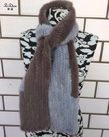 New Women Korean Mink Fur Scarf Hand Knitted Fashion Mink Fur Muffler Luxury Real Mink Fur Neck Warmer Women Fur Stole 180417 2