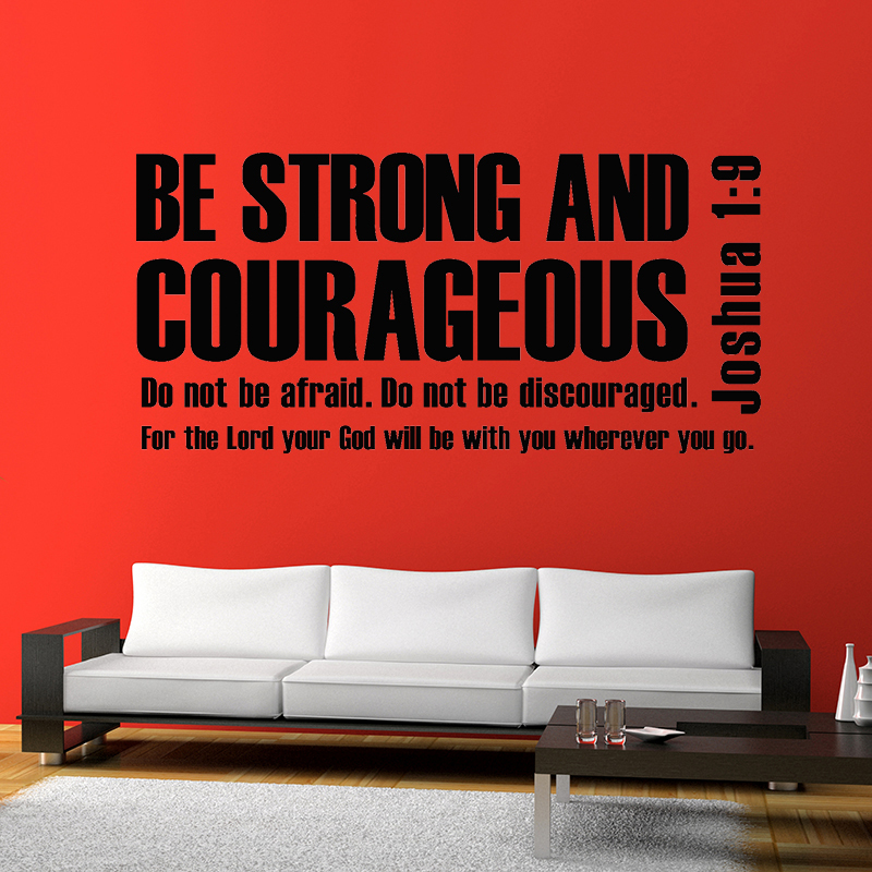 Mix Wholesale Order Joshua 1:9 Be Strong And Courageous Bible Verse  Scripture Wall Sticker ...