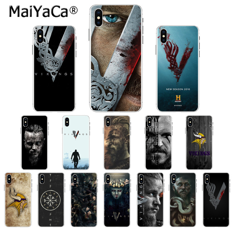 MaiYaCa vikings serie Colorful Cute Phone Accessories Case for iphone 11 pro X XS MAX 66S 7 7plus 8 8Plus 5S XR cover