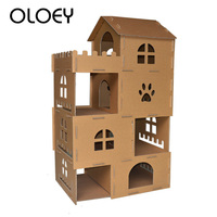 Cat Toy House Big Cat Climbing Furniture Scratch Post Cat Jumping Toy with Ladder for Kittens Pet House Play Toys for Cats