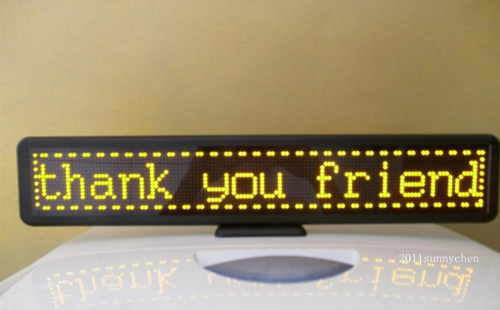 55CM Yellow Programmable LED Moving Scrolling Message Display Sign Indoor Board 21