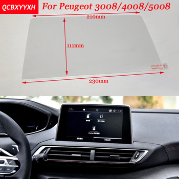 Car Sticker 8 7 Inch GPS Navigation Screen Steel Protective Film For Peugeot 3008 4008 5008 Control of LCD Screen Car Styling image
