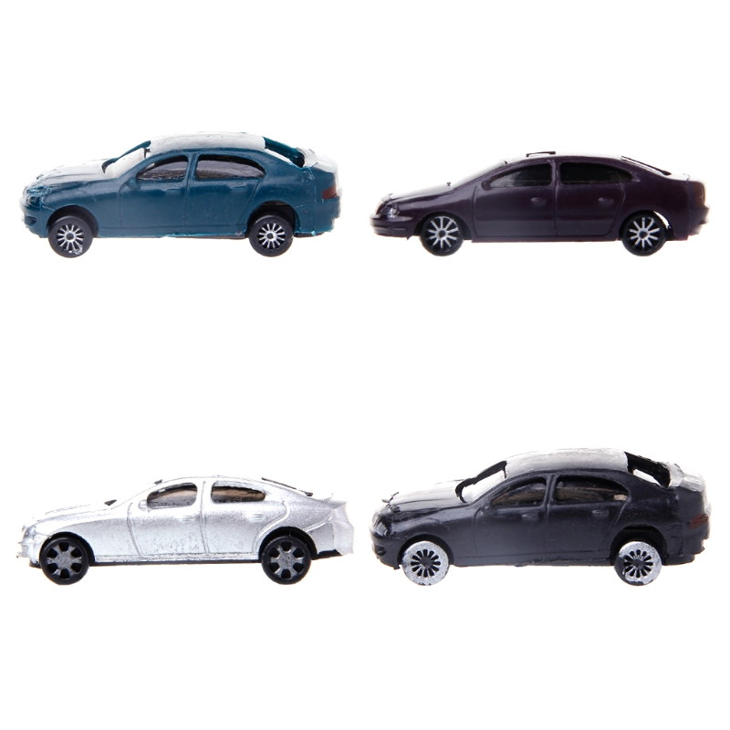 US $1 77 15% OFF|Educational Toy New 10x 1:100 Painted Model Cars Building  Layout HO Scale Model Building Toy-in Model Building Kits from Toys &