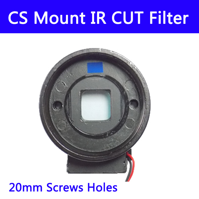10pcs/lots CS Mount IR Cut Filter Double Filter Switcher For Cctv IP AHD Camera Day/night 20MM Lens Holder 7215