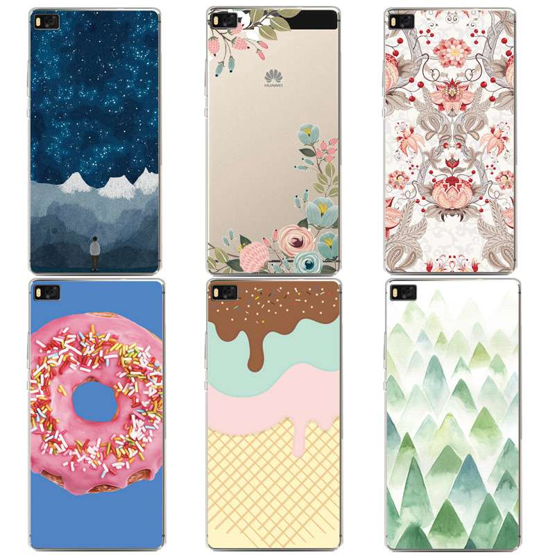 Flora Soft Clear TPU Phone Case For huawei P10plus P8 P9lite honor 3c 4c 6a 7 8 9 5c Coque Starry Icecream Cover Free Shipping
