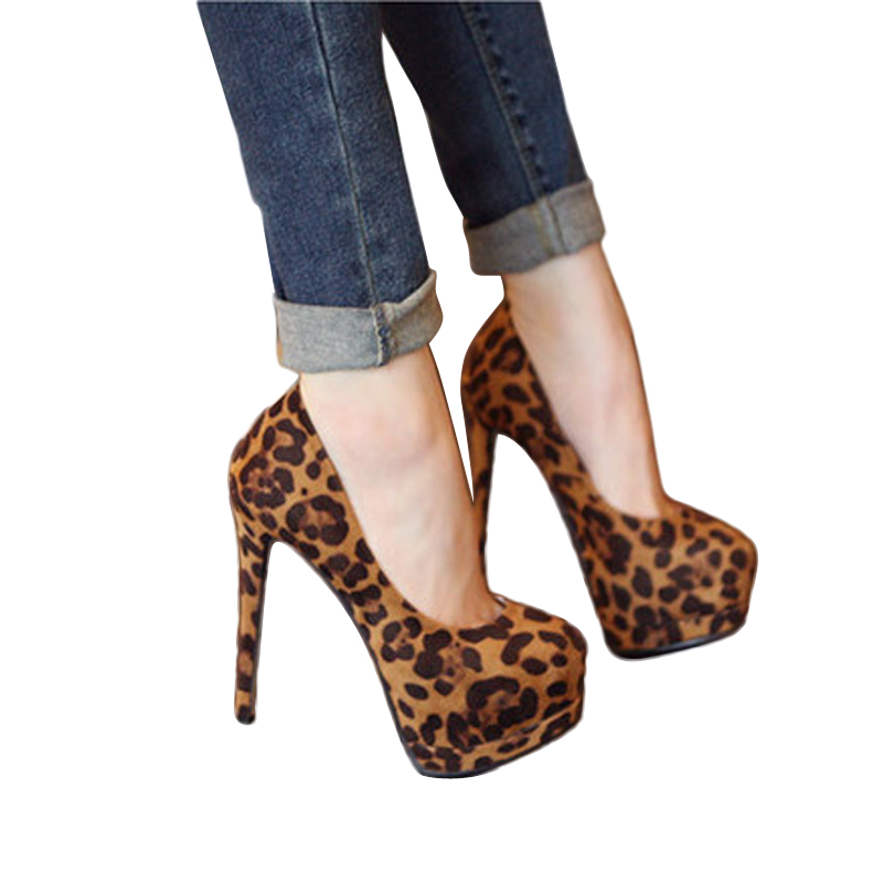 ФОТО Hot Sale Women Pumps Leopard Sexy High Heel Shoes For Women Platform Nigh Club Party Women Shoes Heels Xapatos Mujer Tacon BT211