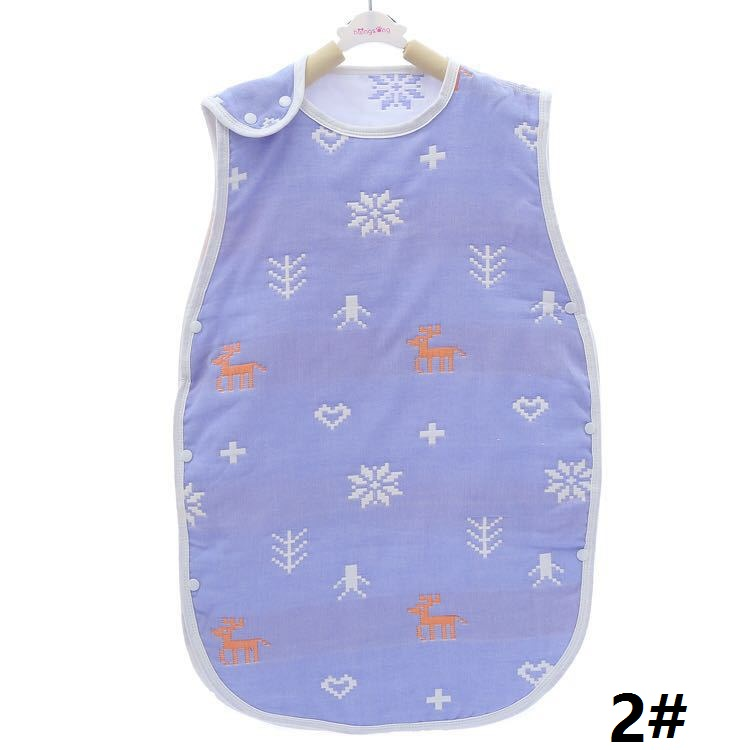 Cotton Vest Baby Sleepware Children Boy Girl Anti Kick Soft Safe Cute Sleeping Bag Muslin 6 layers Gauze Infant Kids Sleepsack ...