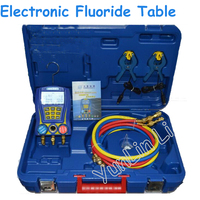 Electronic Fluoride Meter Digital Display Refrigeration Manifolds Gauge Vacuum Pressure Manomete Compressor Tool Gauge