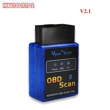 ELM327 V2.1 Bluetooth Vgate סריקת ELM 327 OBDII OBD2 פרוטוקולי אבחון אוטומטי סורק כלי MINI327 OBD סריקה