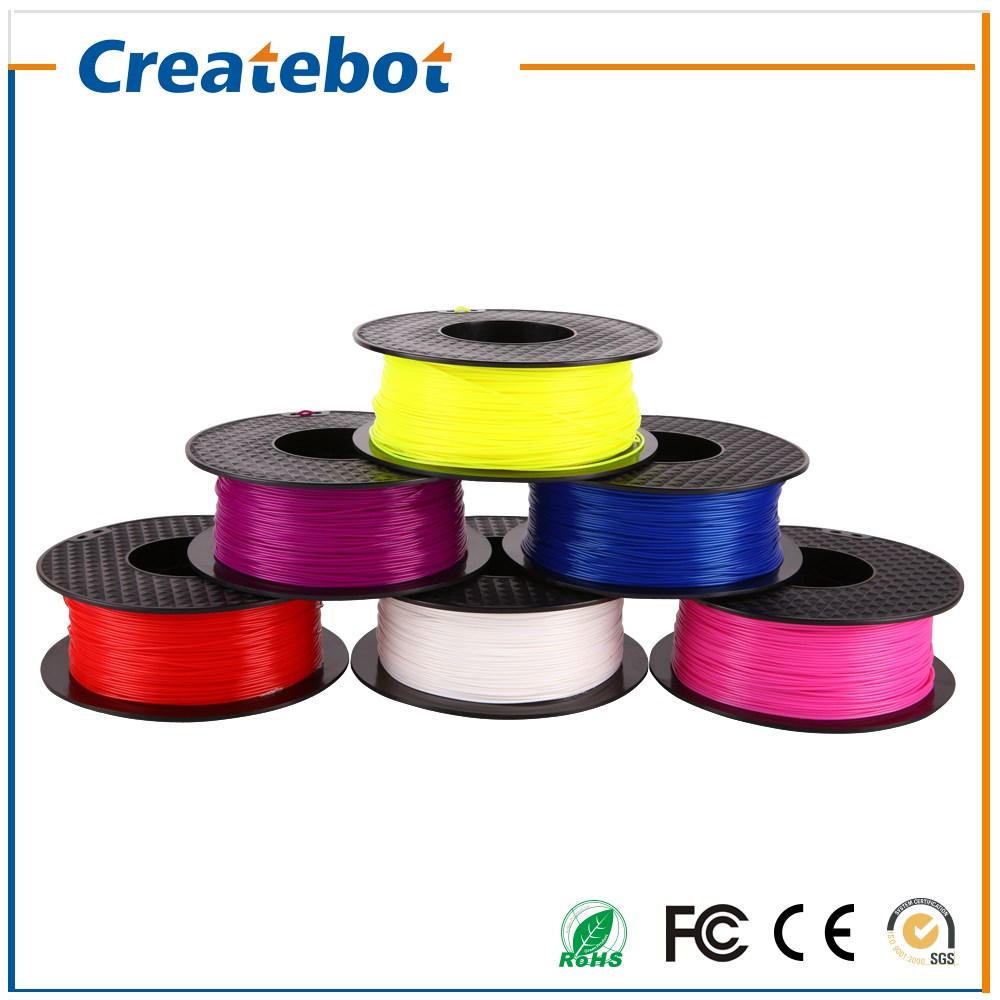 ФОТО 2016 Hot Sale Free Shipping Multi-Color PLA 3D Print Filament Createbot 1KG 1.75mm/3mm Non-toxic PLA 3D Printing Material
