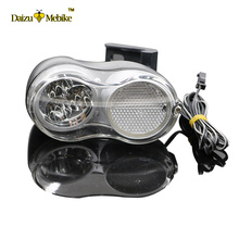 36V Electric Bike Bicycle Light 200CM Wire Cycling Bright Headlamp Bicycle Accessories E Bike Headlight Front Light Parts