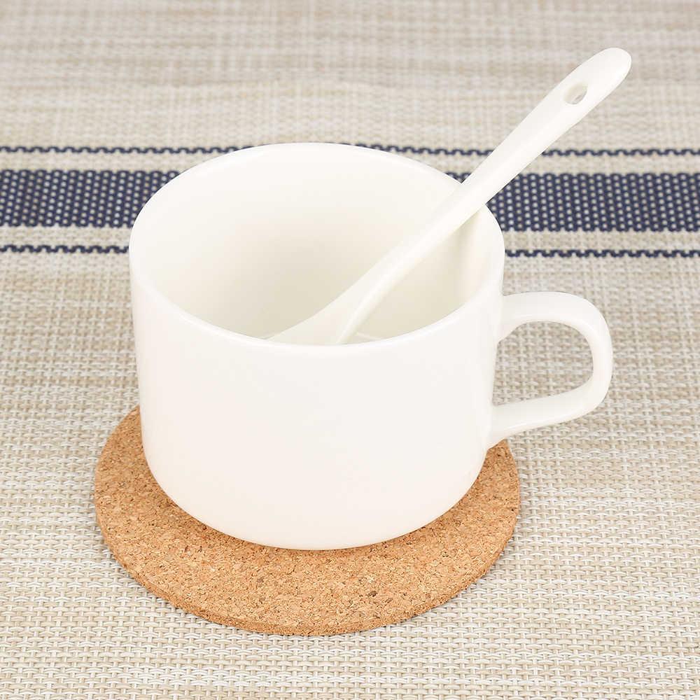 1/20/50/100 Buah Alami Bulat Coaster High-End Kayu Tahan Panas Cork kopi Pad Minuman Teh Pad Dekorasi Desktop