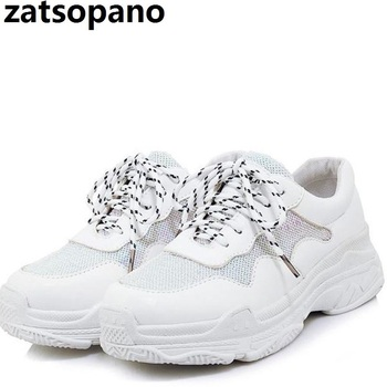 Women's Chunky Sneakers 2019 Fashion Basket Women Platform Shoes Lace Up Pink Female Trainers Dad Shoes Bambas Plataforma Mujer