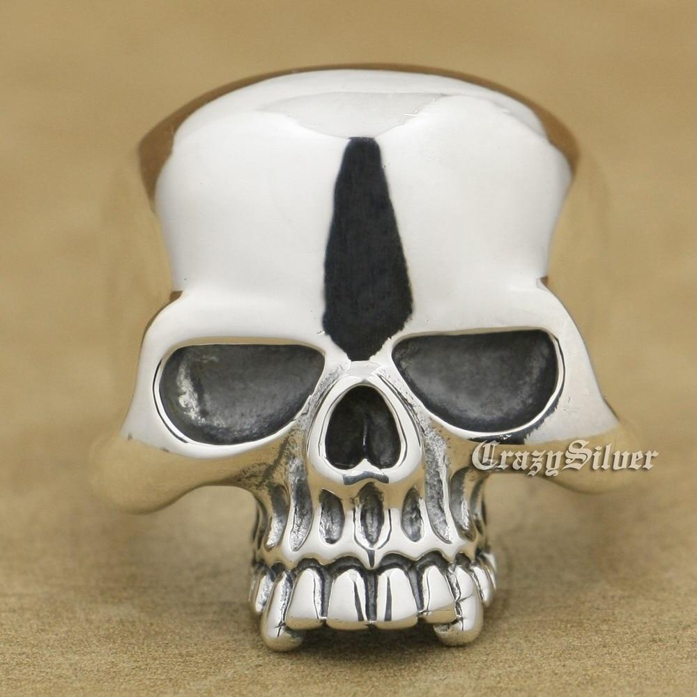 Huge Skull 925 Sterling Silver Mens Biker Punk Ring 9W025 US Size 7.5 to 13Huge Skull 925 Sterling Silver Mens Biker Punk Ring 9W025 US Size 7.5 to 13