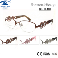 Brand Designer Luxury Women Glasses Half Frame Myopia Rx Prescription Glasses Online Optical Glass Spectacle oculos de grau