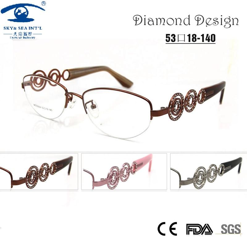 brand designer luxury women glasses half frame myopia rx prescription glasses online optical glass spectacle oculos de grau