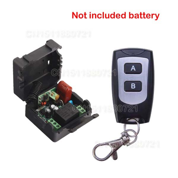 ge 18278 keychain remote transmitter with 1 outlet receiver rf 220V 1CH Receiver & Transmitter RF Wireless Remote Light Switch Momenrary Toggle Latched Adjustable Not With Battery