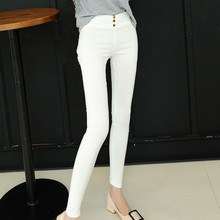 Spring Summer 2019 High Waist Stretch Slim Pencil Trousers Women Clothing Pants Sexy Lady Plus Size Skinny Pants 3XL White Black цены