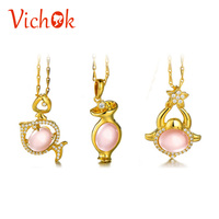 VICHOK 12 Constellations Necklace Elegant 925 Sterling Silver Pendant Necklace For Women Men Party Fine Jewelry Gold Color