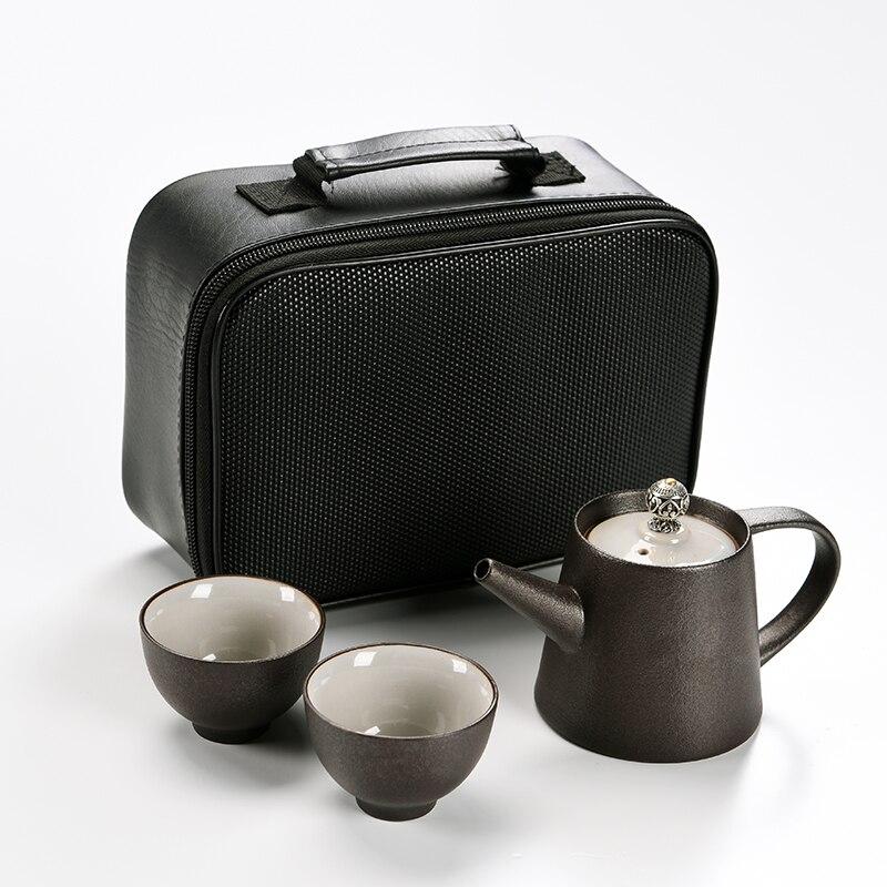 black crockery ceramic teapot teacups a tea sets portable travel tea sets with travel bag