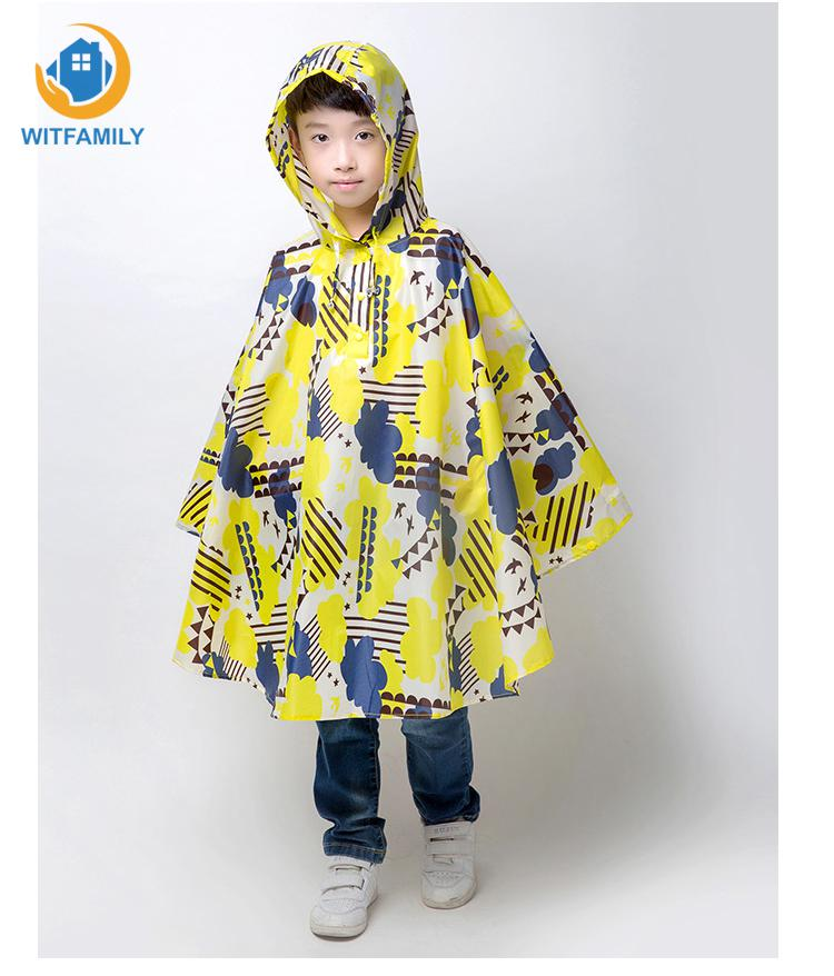 Kids waterproof Rain Coat Trench Poncho Jacket rain coat For Children baby girls boys Baby Raincoat women Men