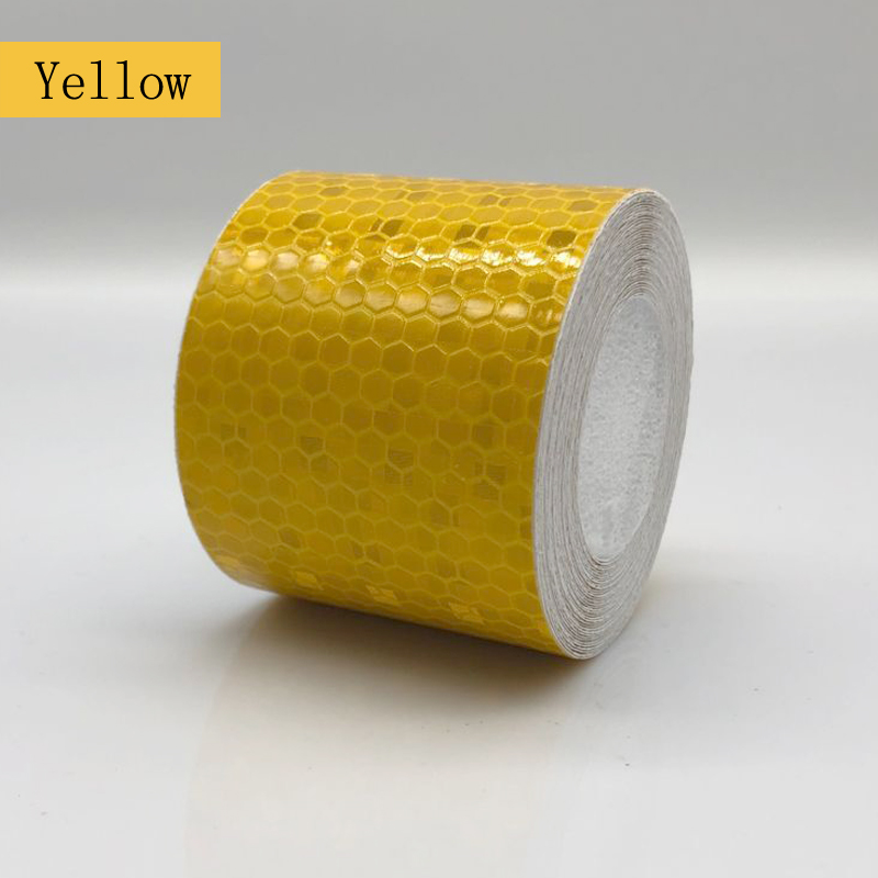 5cmx1m Reflective Bicycle Stickers Adhesive Tape For Bike Safety White Red Yellow Blue Bike Stickers Bicycle Accessories