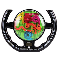 3D Maze Ball Puzzle Games Steering Wheel Digital Display Sounding Track Spherical Intellect Educational Toys for Kids Children