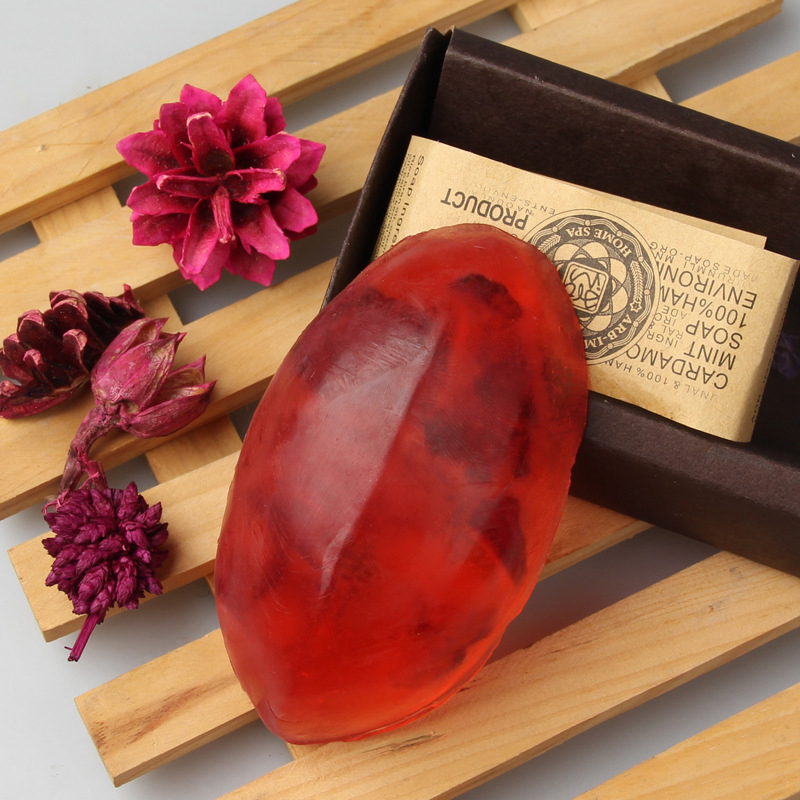Natural Plant Flowers Essential Oil Handmade Soap Face Care Whitening Oil Control Facial Cleaning Soaps Skin Care 110g