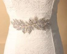 6pcs/lot elegant wedding gown party dress Belt waistband Handmade Bridal Sashes Rhinestone handmade Jy019