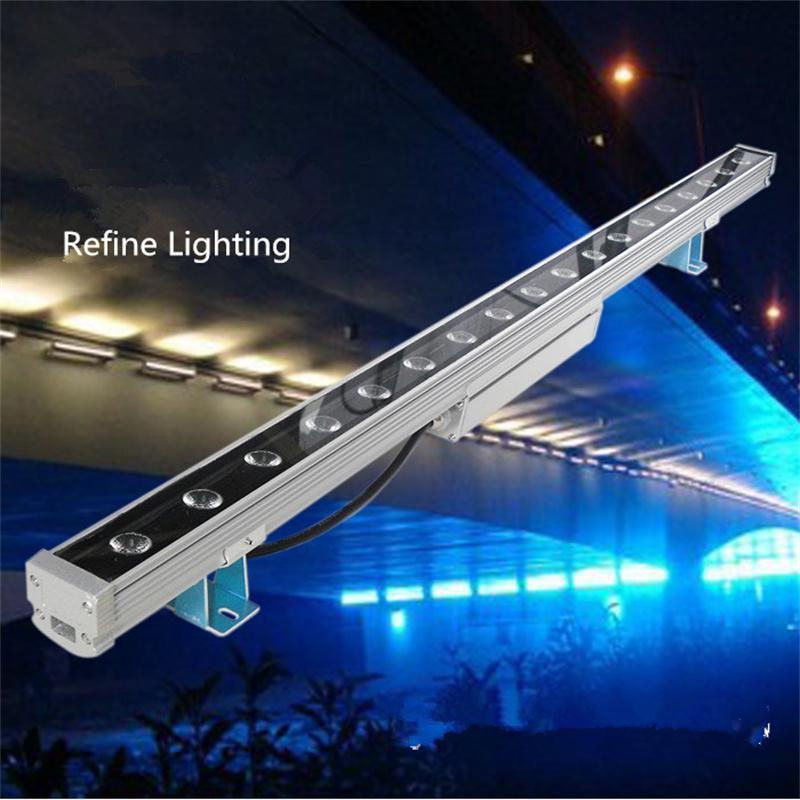 Wall Washer Lamp Reflector LED 36W Projecteur Exterieur Polished Steel Faretto LED Outdoor Wall Floodlights IP65 Holofote LED